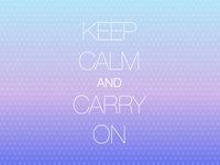 Carry on…