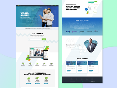 Broadsoft company website homepage redesign design web