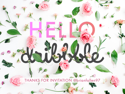 Hello Dribbble shot graphic hero abstract design
