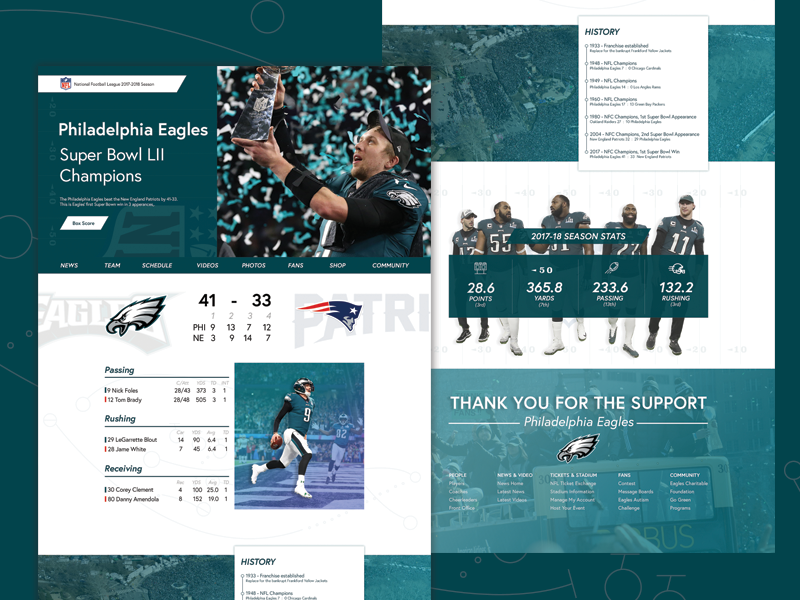 SuperBowl 52 Champions Eagles eagles philadelphia visual graphic design web