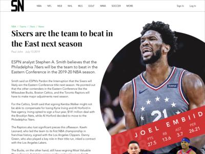 Sports Web Article