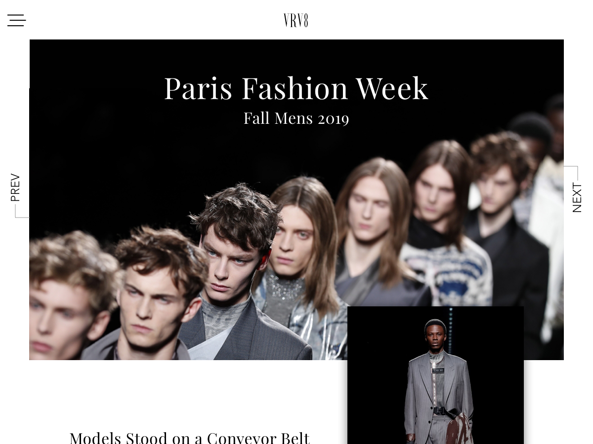 Paris Fashion Week fashion blog concept web design uidesign uxui ui graphic design websites website design web designer blog paris fashion website webdesign web