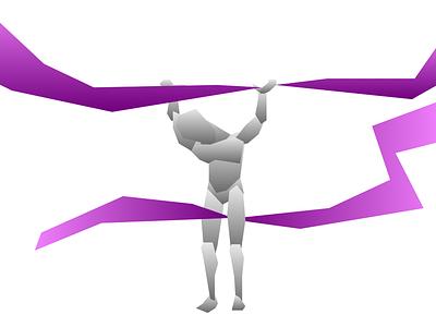 Poser illustration squarish gradiend sketchapp vector drawing vector poser illustration