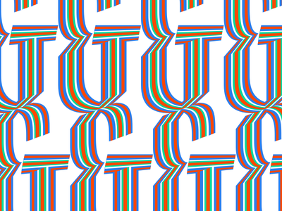 Psychadelic Ampersand calligraphy design skeleton type design ampersand lettering psychadelic