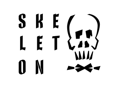 Just another skeleton calligraphy lettering type design skeleton type skeleton type design