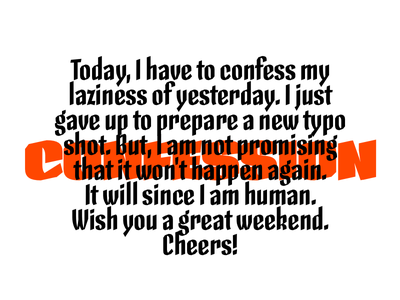 Confession typography calligraphy lettering type design skeleton type design