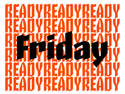 Third Friday typography calligraphy lettering type design skeleton type design