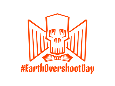 Earth Overshoot Day earth overshoot day calligraphy lettering type design skeleton type skeleton type design