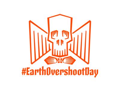 Earth Overshoot Day earth overshoot day calligraphy lettering type design skeleton type skeleton type design