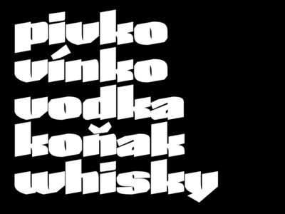 Slovak Drinks calligraphy lettering type design skeleton type skeleton type design