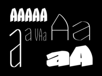 Letter A and a with it's variations