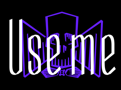 Use me conspiracy calligraphy letterdrawing lettering typeface font skeleton type design type design typography