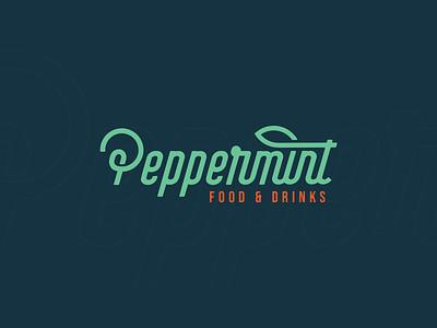 Peppermint - Visual Identity (Unused) healthy restaurant green mint peppermint branding identity design logo