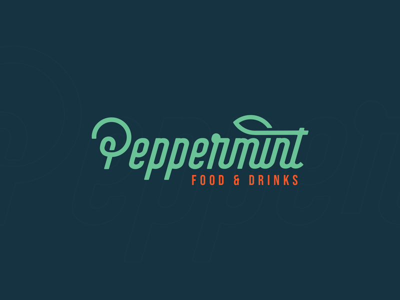 Peppermint - Visual Identity (Unused) healthy restaurant green mint peppermint branding identity design logo