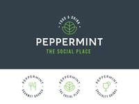 Peppermint - Visual Identity (Approved) brunch mint green branding identity logo restaurant peppermint