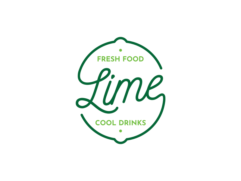 Lime - Visual Identity identity logo fresh drinks food green lime restaurant