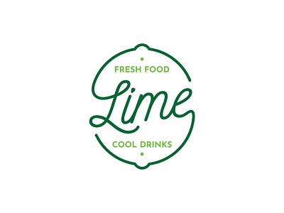 Lime - Visual Identity identity logo fresh drinks food green lime restaurant