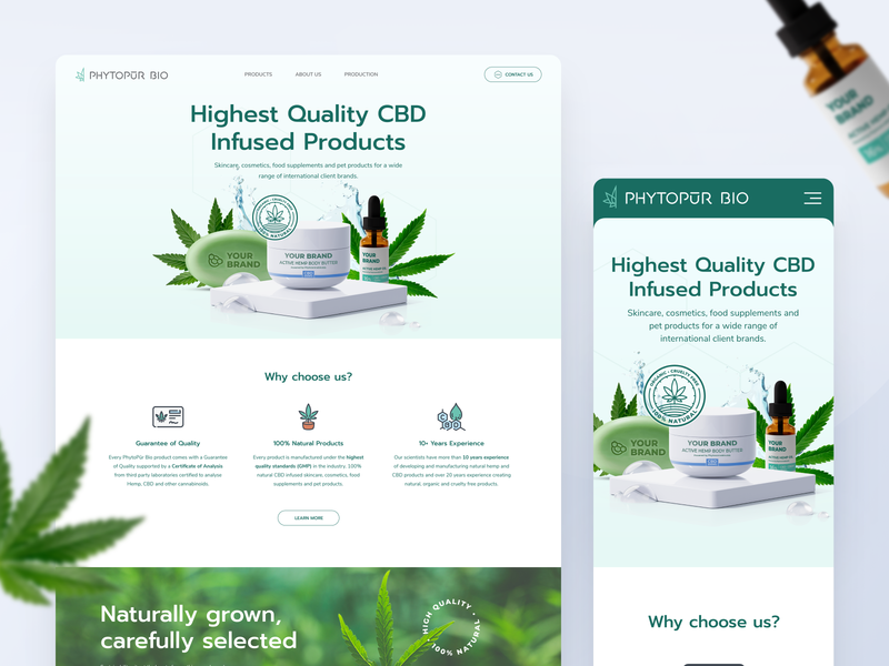 Phytopūr Bio - Website Redesign web redesign green products cannabis cbd web design website