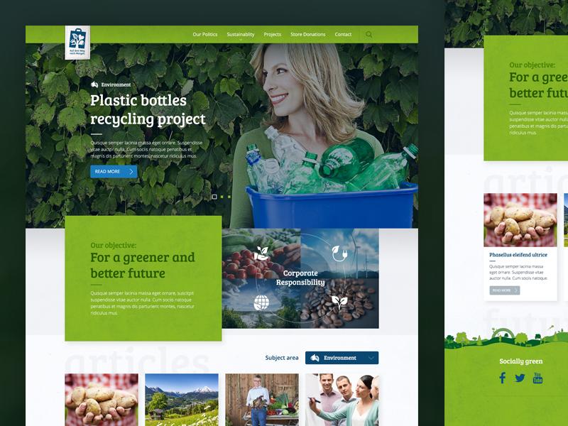 CSR Microsite for Lidl Romania webdesign eco green csr