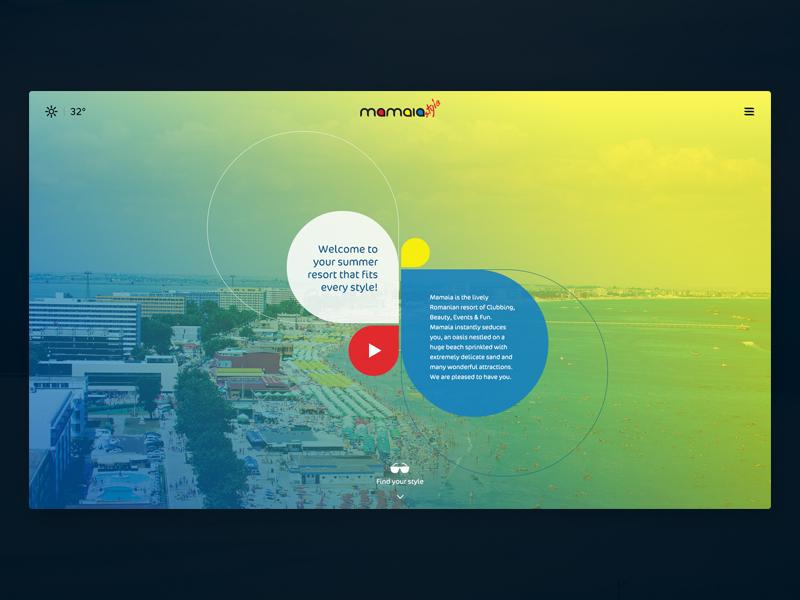 Mamaia Summer Resort video colors summer resort webdesign