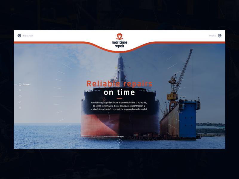 Maritime Repair Webdesign onepage webdesign orange docks ship repairs maritime