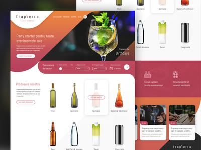 Frapierra.ro - Web Design ux organiser events drinks web design