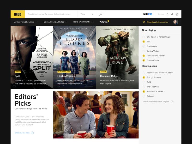 IMDb - Redesign Concept ui imdb web design redesign movies