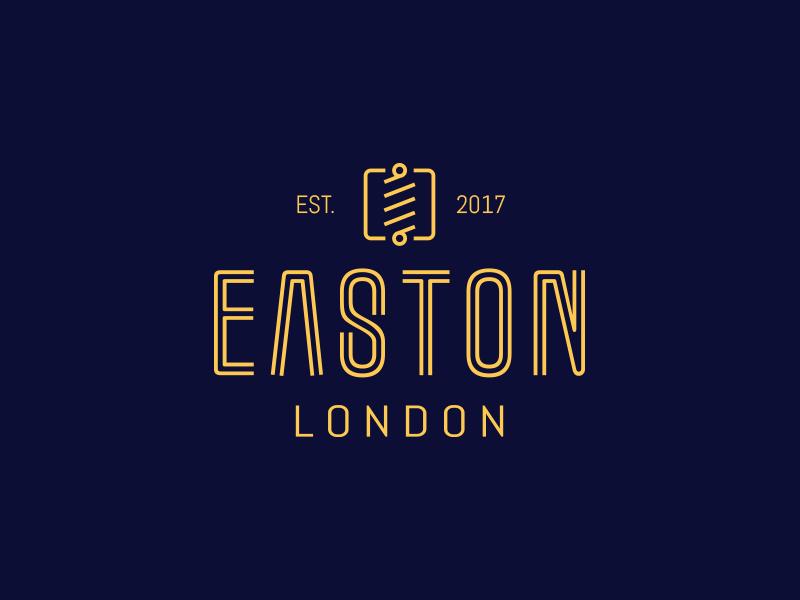 Easton London - Branding Project london yellow blue logo classy barber