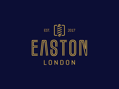 Easton London - Branding Project london yellow blue logo classy barber
