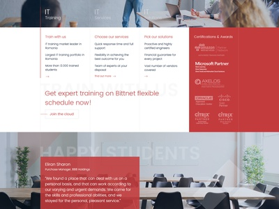Bittnet Website Redesign it students webdesign red courses