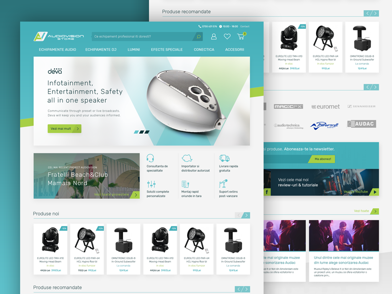 AudioVision Store - eCommerce Website redesign by Alex Gorbanescu