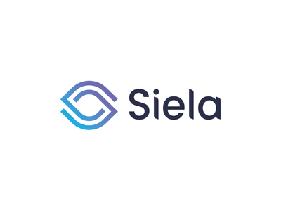 Siela - Rejected Logo Proposal connection link sky blue eye identity logo