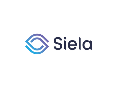 Siela - Rejected Logo Proposal connection link sky blue eye identity logo
