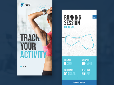 Not another fitness app design activity running blue mobile application design app fitness