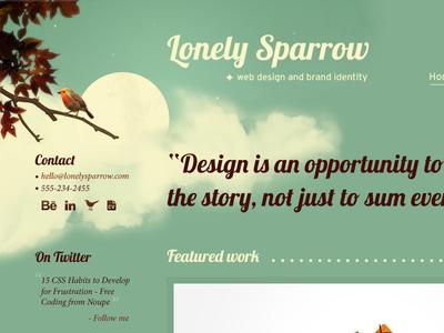 Lonely Sparrow Web Design