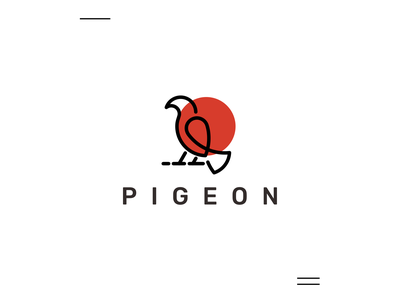 Pigeon initial busines card brand identity brand simple 3d pigeon bird modern motion graphics ui logo illustration grid graphic design design company brand logo branding animation