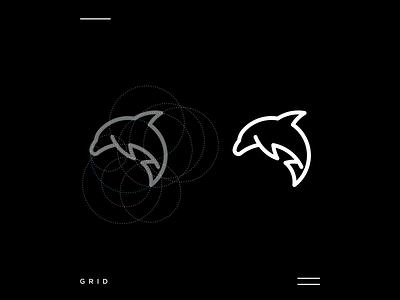 Dolphino dolphin animal creativelogo logoconcept apparel logo grid simple icon modern motion graphics ui logo illustration grid graphic design design company brand logo branding animation