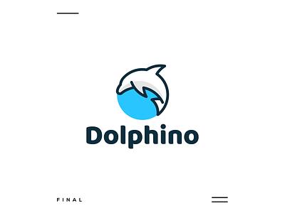 Dolphino identity apparel creative logo logo concept logo new modern simple icon dolphin motion graphics ui logo illustration grid graphic design design company brand logo branding animation