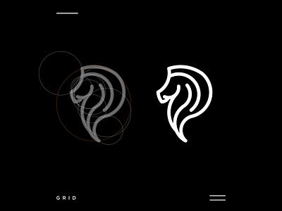 Stallion logo new apparel animal logoconcept simple modern stallion horse 3d motion graphics ui logo illustration grid graphic design design company brand logo branding animation