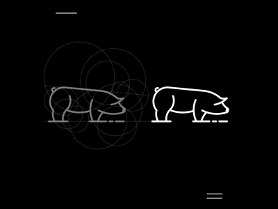 Pig logo icon new modern logo concept animal pig simple apparel logo grid motion graphics ui logo illustration grid graphic design design company brand logo branding animation