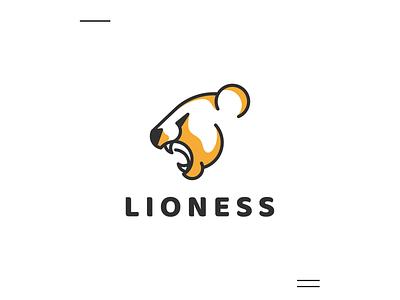 Lioness logo brand identity logo new lioness icon modern logo animal simple logo initial logo 3d motion graphics ui illustration company branding animation grid graphic design design logo brand logo