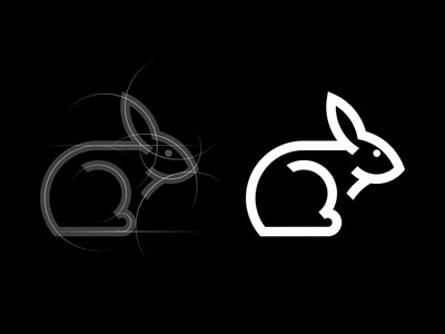 Rabbit logo company logo monogram animal logo rabbit icon simple logo modern logo initial logo motion graphics 3d ui logo illustration grid graphic design design company brand logo branding animation