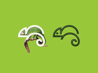 Chameleon logo modern logo best logo monogram animal logo mark icon logo simple logo chameleon 3d motion graphics ui company animation branding illustration brand logo grid design graphic design logo