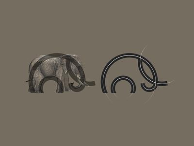 Elephant logo inspiration logo logomark modern elephant symbol icon simple logo animal motion graphics 3d ui animation branding brand logo illustration company graphic design grid logo design
