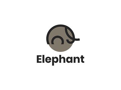 Elephant logo clean flat logo symbol icon elephant simple initiallogo modern logo mark motion graphics ui logo animation branding brand logo company illustration graphic design design grid