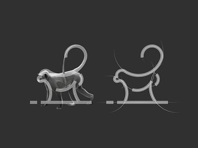 Monkey logo animal flat design initial logo simple logo icon modern logo symbol monkey motion graphics 3d ui illustration grid animation branding brand logo company graphic design design logo