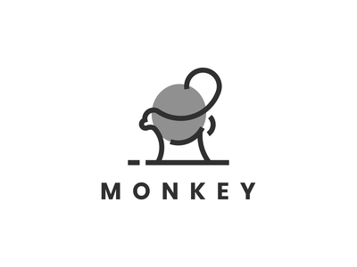 Monkey logo animal flat logo symbol modern icon simple initiallogo monkey motion graphics 3d ui grid illustration animation branding brand logo graphic design company design logo