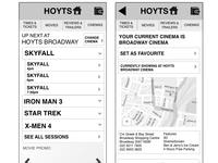 Cinema Mobile Site