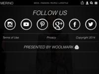 Fashion website wireframe