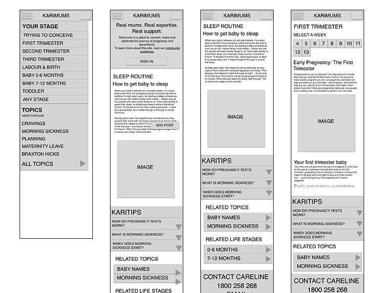 Karimums Mobile Redesign sketch mobile